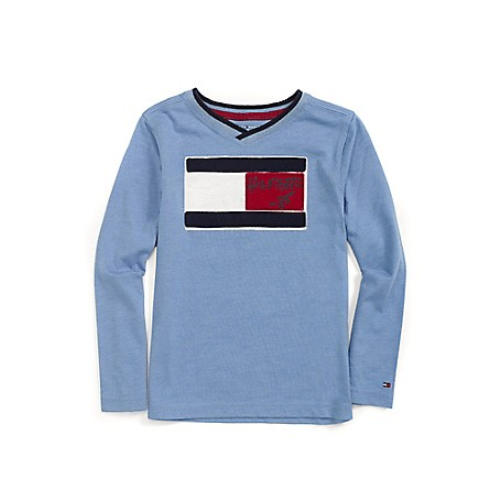 Tommy Hilfiger Final Sale- Fashion Tee - Ultramarine Tommy Hilfiger Little Boys' Tee.•Outlet Exclusive Style.•100% Cotton. •Machine Washable.•Imported.