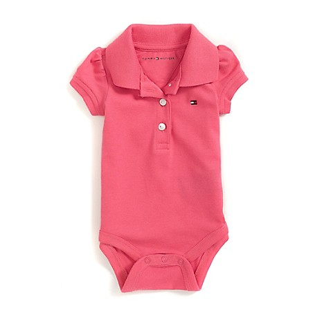 Tommy Hilfiger Fashion Tee - Hot Pink Tommy Hilfiger Little Girls' Tee.•Outlet Exclusive Style.•98% Cotton, 2% Elastane. •Machine Washable.•Imported.