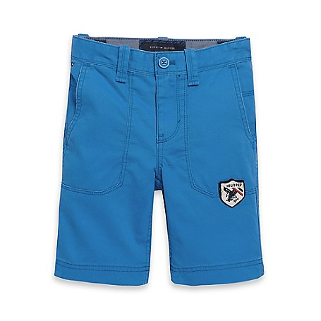 Tommy Hilfiger Novelty Short - French Blue Tommy Hilfiger Big Boys' Short.• Outlet Exclusive Style.• 100% Cotton.• Trouser Styling, Internal Adjustable Waist-Tabs, Tiny Tommy Flag At Hip.• Machine Washable.• Imported.