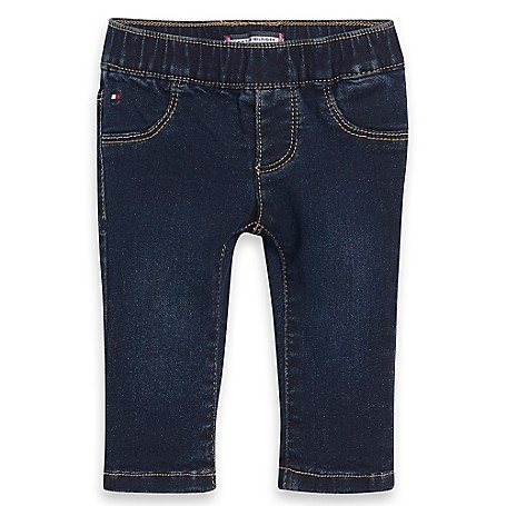 Tommy Hilfiger Skinny Jeans - Dk Wash Tommy Hilfiger Little Girls' Jean.•Outlet Exclusive Style.•100% Cotton.•Internal Adjustable Waist Tabs.•Machine Washable.•Imported.