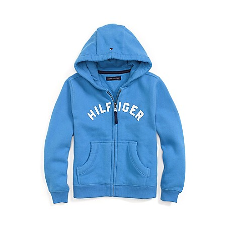 Tommy Hilfiger Signature Hoodie - French Blue Tommy Hilfiger Little Boys' Fleece.•Outlet Exclusive Style.•75% Cotton, 25% Synthetic. •Machine Washable.•Imported.