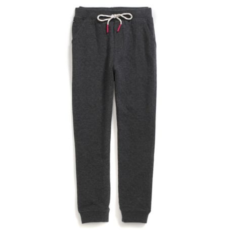 Tommy Hilfiger Drawstring Knit Pants - Heather Grey - S