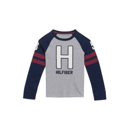 Tommy Hilfiger H Long Sleeve Tee - Academy Grey Heather - M