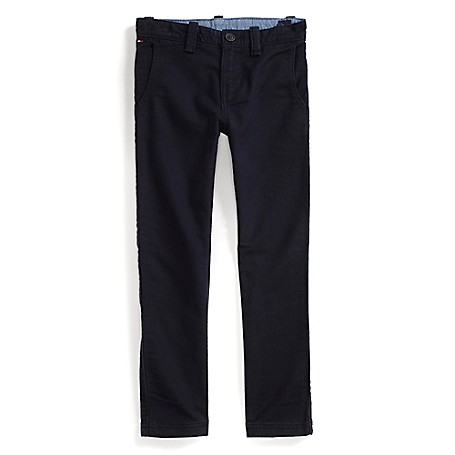 Tommy Hilfiger Fashion Pants - Masters Navy - 4 Tommy Hilfiger Big Boys' Pant.Outlet Exclusive Style.100% Cotton.Internal Adjustable Waist Tabs.Machine Washable.Imported.