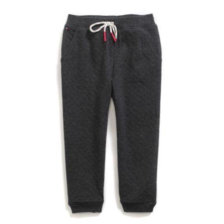 Tommy Hilfiger Drawstring Knit Pants - Heather Grey - 4T