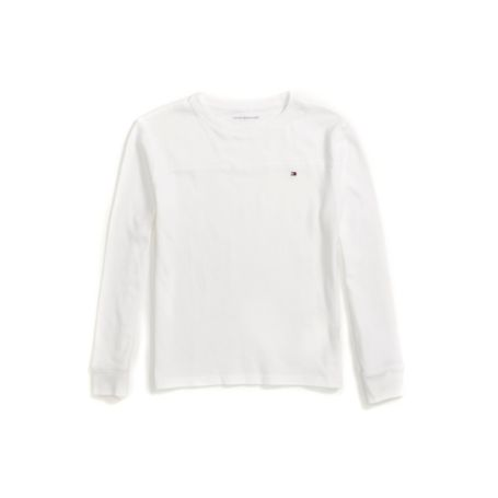 Tommy Hilfiger Solid Long Sleeve Tee - Classic White - L