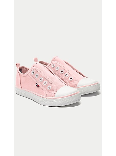 타미 힐피거 키즈 스니커즈 Tommy Hilfiger TH Kids Laceless Sneaker,ROSE SHADOW