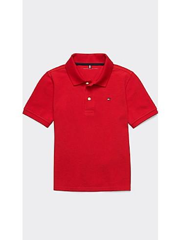 타미 힐피거 키즈 폴로 반팔 티셔츠 Tommy Hilfiger TH Kids Solid Polo