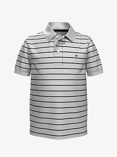 타미 힐피거 키즈 폴로셔츠 Tommy Hilfiger TH Kids Stripe Polo,CLASSIC WHITE/ MULTI