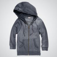 GARMENT DYED ZIP-UP HOODIE $39.97