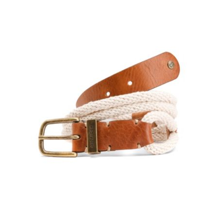 Image for ROPE BELT WITH LEATHER DETAILS from Tommy Hilfiger USA