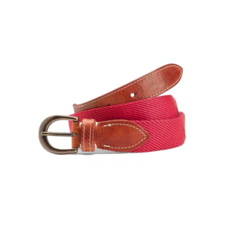 Image for WEB BELT WITH LEATHER DETAILS from Tommy Hilfiger USA