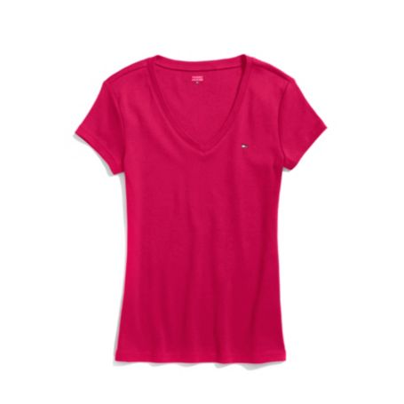Image for SHORT SLEEVE V NECK FAVORITE TEE from Tommy Hilfiger USA