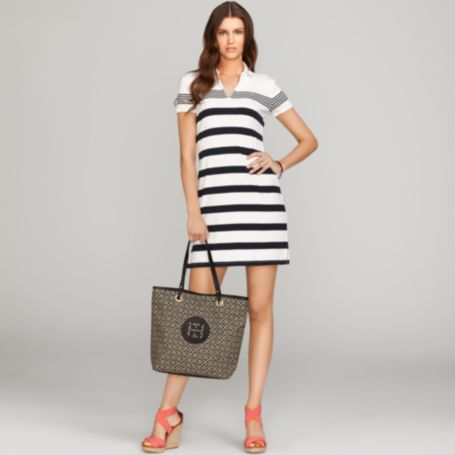 Image for EMMA STRIPED POLO DRESS from Tommy Hilfiger USA
