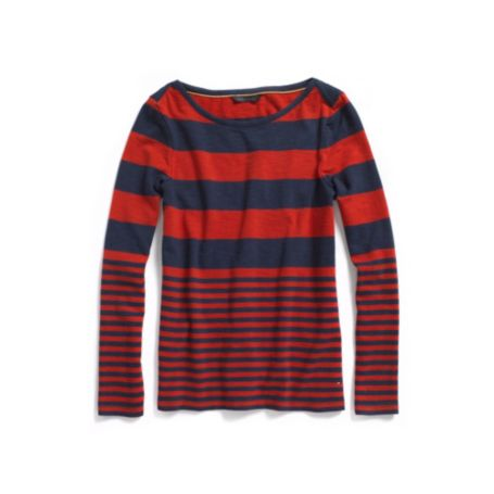Image for LONG SLEEVE STRIPED BOATNECK from Tommy Hilfiger USA