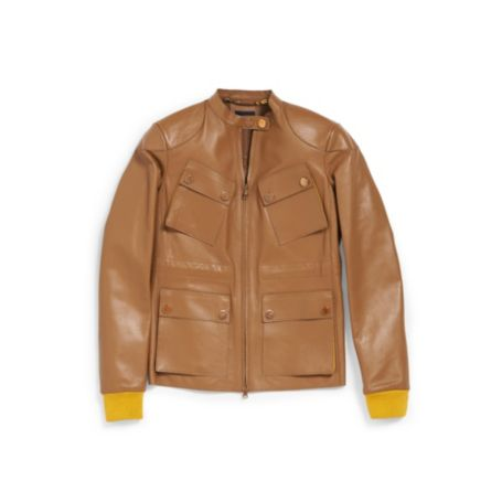 Image for LEATHER MOTO JACKET from Tommy Hilfiger USA