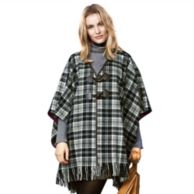PLAID CAPE $64.99