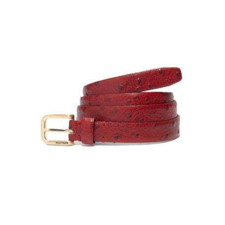 Image for FAUX OTSRICH PRITED SKINNY BELT from Tommy Hilfiger USA