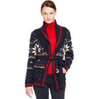 CHUNKY KNIT FAIRISLE CARDIGAN $199.99