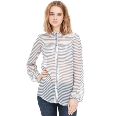 Image for STRIPE BLOUSE from Tommy Hilfiger USA