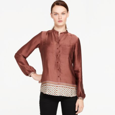 Image for FOULARD PRINTED BLOUSE from Tommy Hilfiger USA