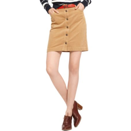 Image for BUTTON FRONT CORD SKIRT from Tommy Hilfiger USA