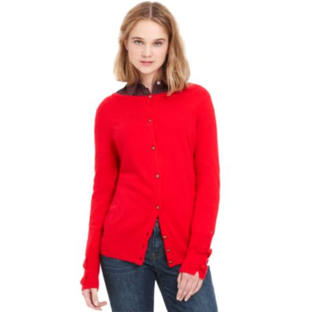 Image for CARDIGAN WITH BOW SLEEVE DETAILS from Tommy Hilfiger USA