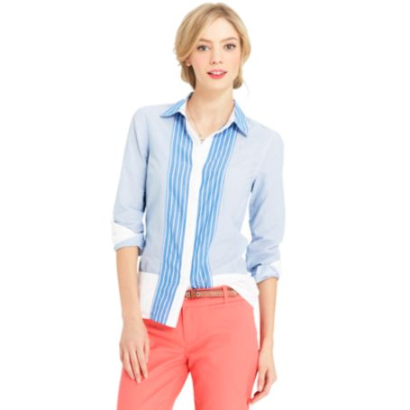 Image for MULTI STRIPE MIXED PRINT SHIRT from Tommy Hilfiger USA