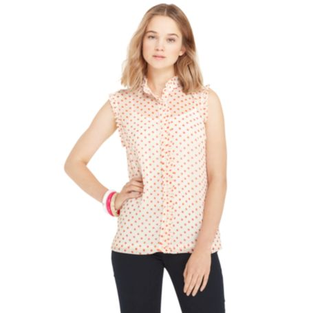 Image for DOT RUFFLE PLACKET SHIRT from Tommy Hilfiger USA