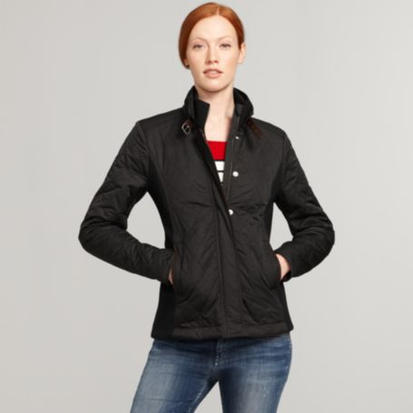 Image for QUILTED JACKET WITH RIBBED SIDES from Tommy Hilfiger USA