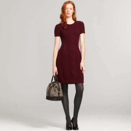 Image for SHORT SLEEVE CABLEKNIT SWEATER DRESS from Tommy Hilfiger USA