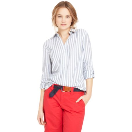Image for BLUE AND WHITE STRIPE SHIRT from Tommy Hilfiger USA