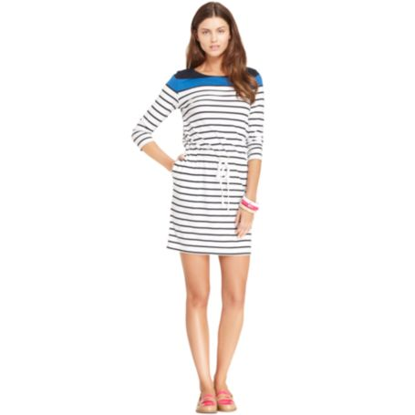 Image for SIGNAL STRIPE BOAT NECK DRESS from Tommy Hilfiger USA