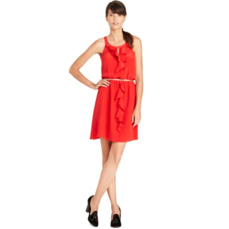 Image for BELTED CASCADE HALTER DRESS from Tommy Hilfiger USA