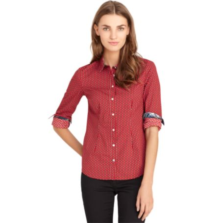 Image for DOT PRINT STRETCH POPLIN SHIRT from Tommy Hilfiger USA
