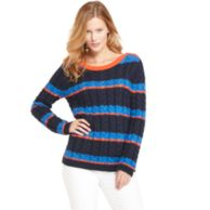 STRIPE CREW NECK SWEATER $99.99
