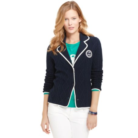 Image for CABLEKNIT SWEATER BLAZER from Tommy Hilfiger USA