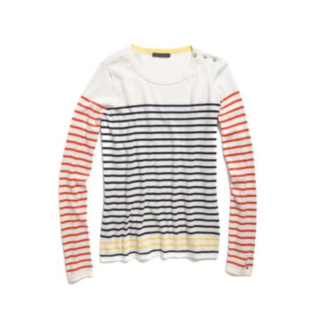 Image for STRIPED CREW NECK SWEATER from Tommy Hilfiger USA