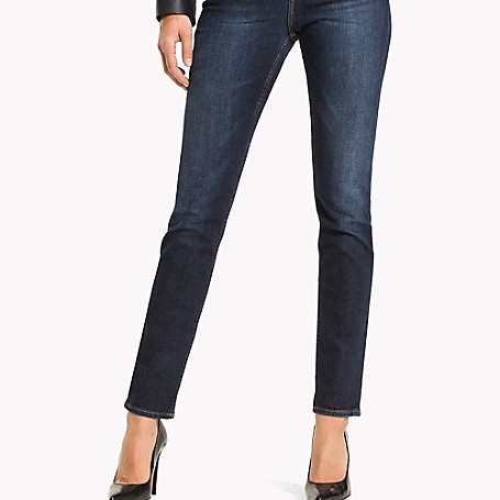 Tommy Hilfiger Vintage Wash Skinny Jeans - Absolute Blue Wash Tommy Hilfiger Women's Jean. Our Best-Selling Jeans Are Skinny (But You Don't Have To Be) In Stretch Denim That Hugs Your Curves Comfortably. Strategically Faded For A Slimming Effect. • Sits Lower On The Waist, Fitted Through The Hip And Thigh.• 98.5% Cotton, 1.5% Elastane.• 5-Pocket Styling.• Machine Washable.• Imported.