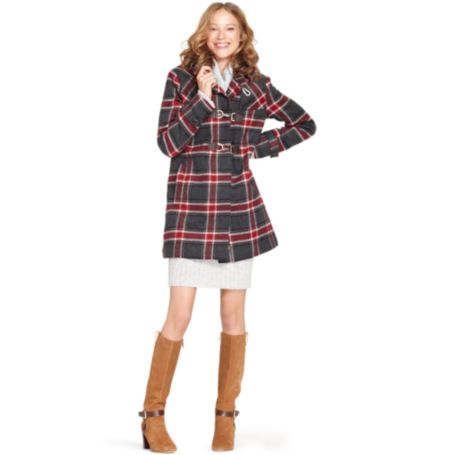 Image for PLAID DUFFLE COAT from Tommy Hilfiger USA