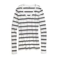 MULTI STRIPE FAVORITE TEE $19.99