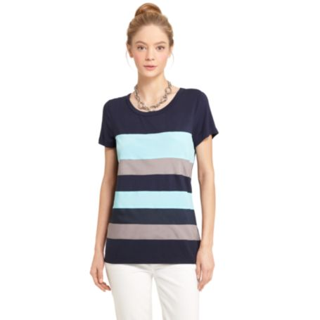 Image for CHIFFON COLORBLOCK TEE from Tommy Hilfiger USA