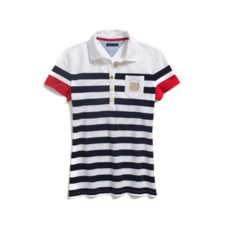 Image for STRIPE STRETCH PIQUE POLO from Tommy Hilfiger USA