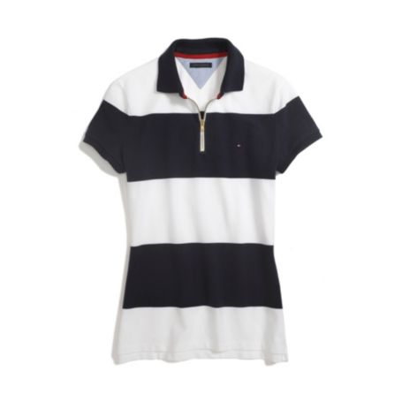 Image for STRIPE POLO WITH ZIPPER from Tommy Hilfiger USA