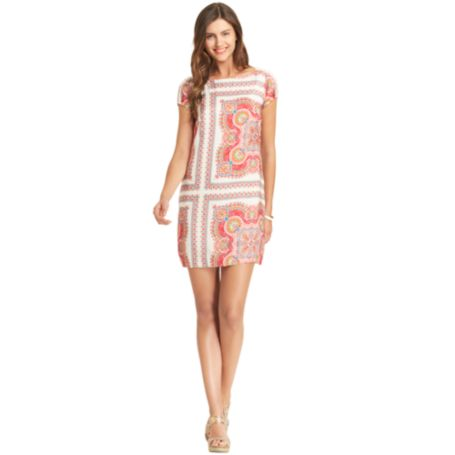 Image for SHORT SLEEVE SCARF PRINTED DRESS from Tommy Hilfiger USA