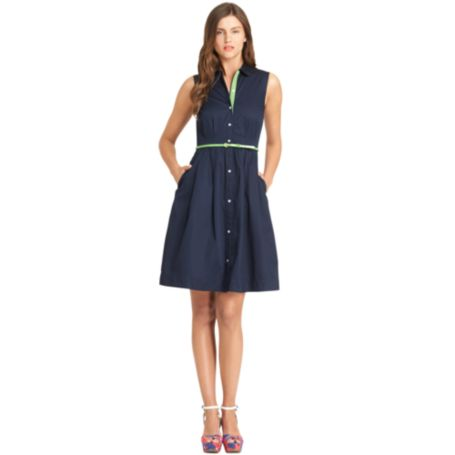Image for PLEATED SHIRT DRESS from Tommy Hilfiger USA