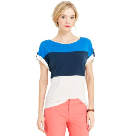 Image for SHORT SLEEVE BOAT NECK from Tommy Hilfiger USA