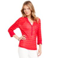 3/4 SLEEVE STRIPE HENLEY $39.99
