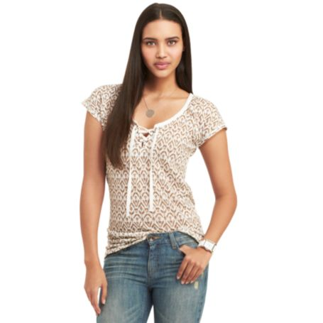 Image for IKAT PRINT KNIT TOP from Tommy Hilfiger USA