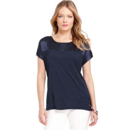 Image for SHORT SLEEVE SCOOP NECK from Tommy Hilfiger USA